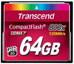 Карта памет Transcend 64GB CF Card (800x)