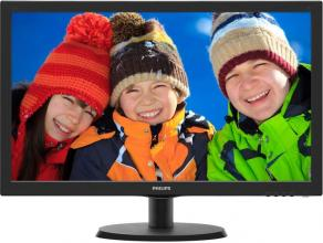 "Монитор 21.5"" Philips 223V5LHSB LED FHD 1920x1080, Черен"