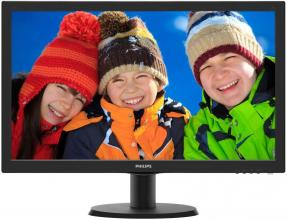 "Philips 243V5QSBA, 23.6"" MVA LED, FHD (1920 x 1080), Черен"