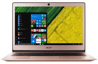 "Acer Aspire Swift 1 Ultrabook (NX.GPREX.001) 13.3"" IPS FHD, Pentium N4200, 4GB RAM, 128GB SSD, Win 10, Розово златист"