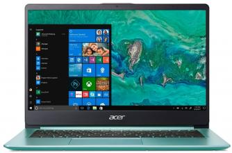 "Лаптоп Acer Aspire Swift 1 SF114-32-P8B9 (NX.GZGEX.001) 14"" FHD IPS, Pentium N5000, 4GB RAM, 128GB SSD, Win 10, Зелен"