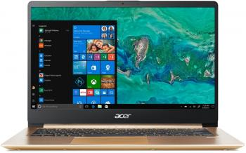 "Лаптоп Acer Aspire Swift 1 SF114-32-P64W (NX.GXREX.001) 14"" FHD IPS, Pentium N5000, 4GB RAM, 128GB SSD, Win 10, Златист"