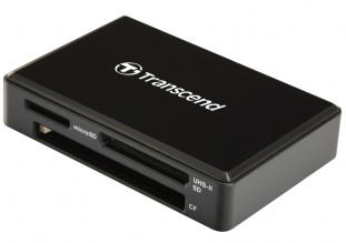 Четец за флаш карта Transcend USB 3.1 Gen 1/3.0 UHS-II All-in-1 Multi Card Reader за SD/microSD/CompactFlash, Черен