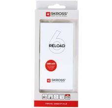 Външна батерия Power Bank SKROSS RELOAD 6, 6000 mAh, Бял