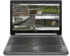 "Workstation HP EliteBook 8570w, 15.6"" FHD, i7-3720QM, 8GB RAM, 240GB SSD, Quadro K1000M, Win 10"