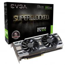 Видео карта EVGA GeForce® GTX 1070 SC GAMING ACX 3.0 8GB GDDR5 (08G-P4-6173-KR)
