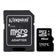 Карта памет Kingston MicroSD 16GB  G2 (Class 10)