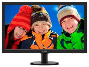 "Монитор 23.6"" Philips 243V5LSB5, TN LED, FHD (1920 x 1080), Черен"