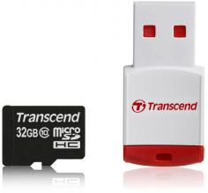 Карта памет Transcend 32GB microSDHC (with reader - Class 10)