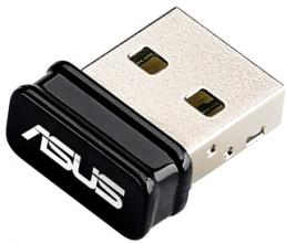 Безжичен USB адаптер ASUS USB-N10 Nano, Wireless USB 2.0 card 802.11n, 150 Mbps, nano dongle