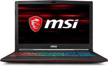 "MSI GP63 Leopard 8RE, 15.6"" FHD 94% NTSC, i7-8750H, 8GB RAM, 128GB SSD, 1TB HDD, GTX 1060, Черен"