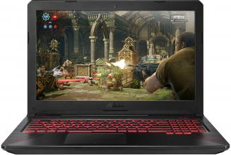 "ASUS TUF Gaming FX504GD-E4083, 15.6"" FHD IPS, i5-8300H, 8GB RAM, 1TB HDD, GTX 1050, Черен"