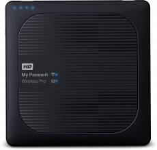 Безжичен външен диск WD My Passport Wireless Pro 2TB USB 3.0 (WDBP2P0020BBK)