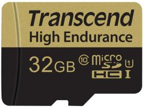 Карта памет Transcend 32GB USD Card (Class 10) Video Recording (TS32GUSDHC10V)