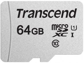 Карта памет Transcend 64GB microSD UHS-I U3A1 (without adapter) (TS64GUSD300S)