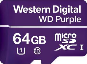 Карта памет Western Digital Purple МicroSD Card 64GB (WDD064G1P0A)