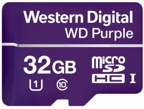 Карта памет Western Digital Purple МicroSD Card 32GB (WDD032G1P0A)