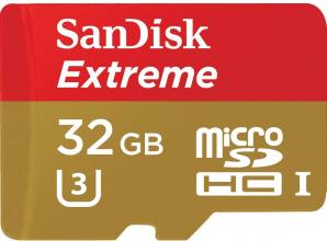 Карта памет Sandisk  Extreme® microSDHC Card, SD Adapter 32GB (SD-SQXAF-032G-GN6MA)