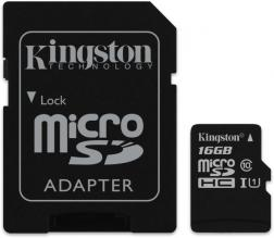 Карта памет Kingston Canvas Select, Адаптер, 16GB (KIN-SDCS/16GB)