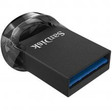 USB Флаш памет SanDisk Ultra Fit 128GB, USB 3.1, Черна (SDCZ430-128G-G46)