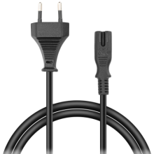 Кабел Speedlink Power Cord - 2-pin socket, 1.5м Basic (SL-170102-BK)