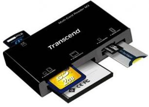 Четец за карти Transcend 15-in-1 Multi Memory Card Reader, USB 2.0, Черен