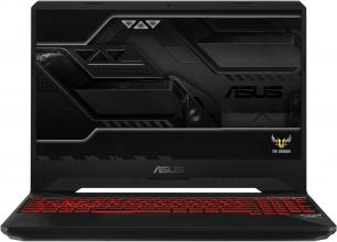 "UPGRADED ASUS TUF Gaming FX505GD-BQ125 (90NR00T2-M03800) 15.6"" FHD IPS, i7-8750H, 8GB RAM, 128GB SSD, 1TB HDD, GTX 1050, Черен"