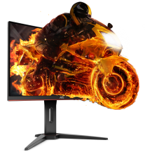 "Монитор за игри  AOC C24G1, 24"" Curved MVA LED, 1 ms,FHD (1920x1080), 144 Hz, Черен"