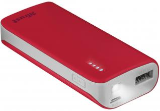 Външна батерия TRUST Primo Power Bank 4400 Portable Charger - Червена