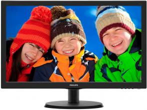 "Монитор Philips 223V5LSB2/10 21.5"" LED, Full HD 1920 x 1080, Черен"