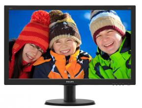 "Philips 240V5QDSB, 23.8"" IPS LED, Full HD 1920 x 1080, Черен"