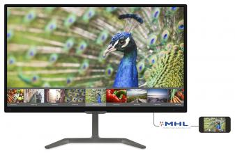 "Монитор Philips 27"" IPS W-LED, FHD (1920 x 1080), 5ms, Черен (276E7QDAB)"