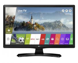 "TV монитор LG 28MT49S-PZ, 27.5"" VA LED, HD(1366x768), Tунер, Smart webOS 3.5, Wi-Fi, Лъскаво черен"