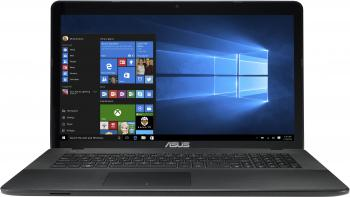 "ASUS X751NV-TY001, 17.3"" HD+ , Quad-Core N4200, 4GB RAM, 1TB HDD, GF 920MX, Черен, 90NB0EB1-M00130"