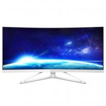 "Професионален монитор Philips 34"", CURVED, WQHD (3440 x 1440), Brilliance UltraWide, Сребрист (349X7FJEW)"