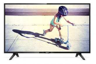 "Ултратънък телевизор Philips 39"" LED HD (1366 x 768), Черен (39PHS4112/12)"