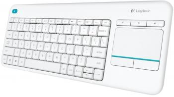 Безжична клавиатура с Тъчпад Logitech Wireless Touch Keyboard K400 Plus White (920-007146)