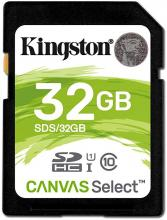 Надеждна SDHC карта 32GB Kingston Canvas Select Class 10, UHS-I, U1(KIN-SDS/32GB)