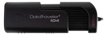USB флаш памет Kingston DataTraveler 104, 32GB, USB 2.0, Черна
