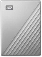 HDD 1TB USB-C MyPassport Ultra външен диск, Сребрист (WDBC3C0010BSL)