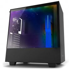 Кутия NZXT H500i Smart Matte Mid-Tower Черен-син