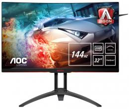 "Геймърски монитор 31.5"" AOC AGON VA Curved, QHD(2560x1440), 4ms, 144 Hz (AG322QC4)"