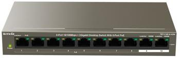 Switch Tenda TEF1110P-8-102W 8-Port10/100Mbps+2 Gigabit Desktop Switch With 8-Port PoE