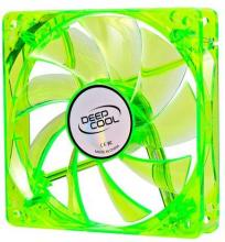 Вентилатор DeepCool 120mm Green LED Xfan 120U G/B - 1300rpm, DP-FLED-XF120GB
