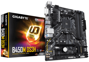 Дънна платка GIGABYTE B450M DS3H rev. 1.0 AM4