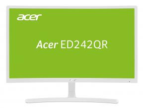 "Acer ED242Qrwi 23.6"" VA LED, FHD(1920x1080), Curved 1800R, 4 ms, 75 Hz , Бял (UM.UE2EE.001)"
