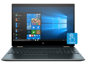 "Ултра тънък лаптоп HP Spectre x360 15-df0026na(5QX33EA), 15.6"" Touch 4K, i7-8565U, 16GB RAM, 512GB SSD, GeForce MX150, Win 10, Графит"
