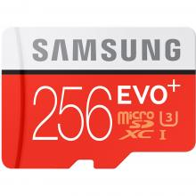 Карта памет Samsung 256GB micro SD Card EVO+ with Adapter, Class10, UHS-1 Grade1, Read 80MB/s - Write 20MB/s