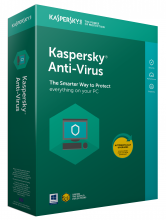 Kaspersky Anti-Virus 2019  1-Desktop 1 year Base Box