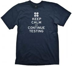 Тениска GAYA PORTAL 2, KEEP CALM & CONTINUE TESTING, размер S